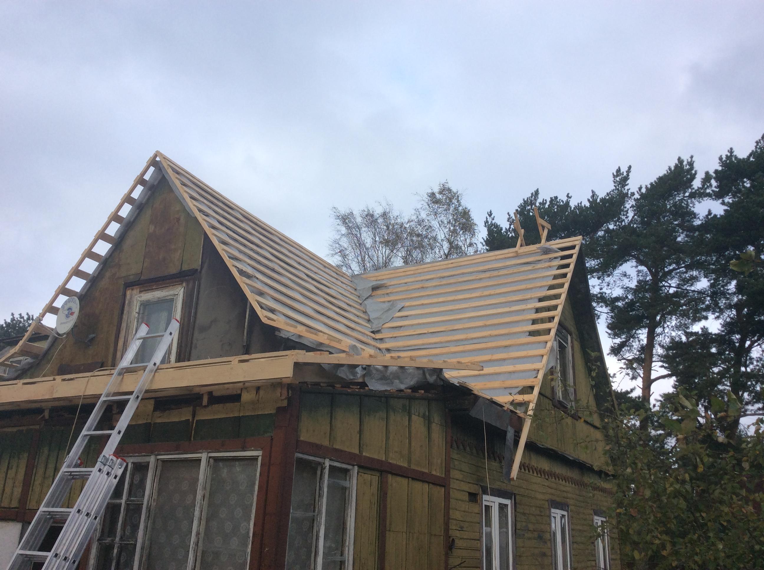 Реконструкция крыши загородного дома