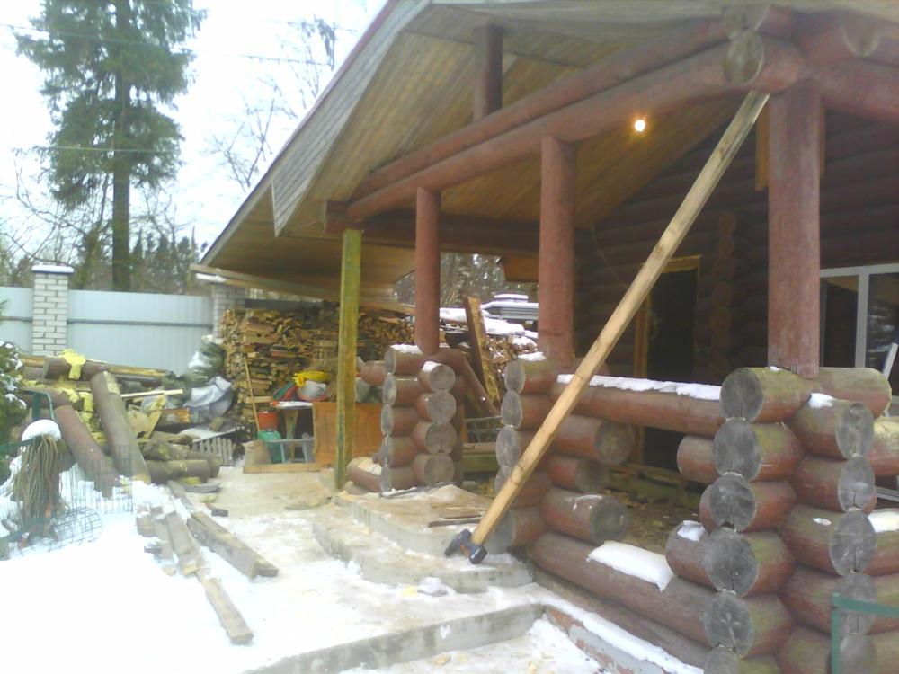 Реконструкция бани из калиброванного бревна