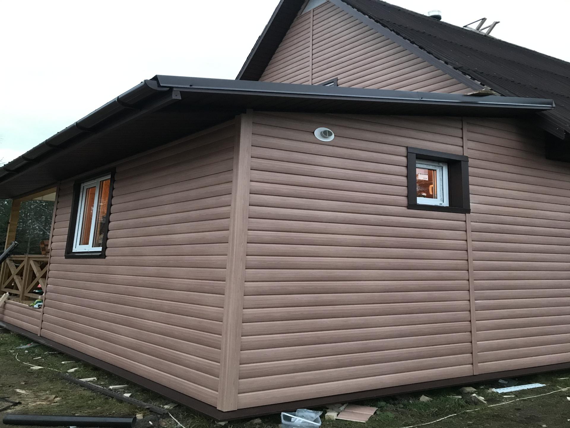 Отделка дома сайдингом . Фасадные работы. Ремонт дачных домов