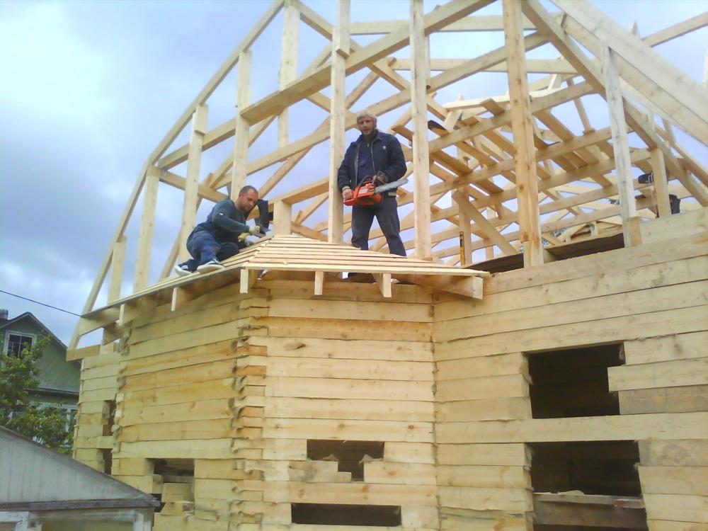Изготовление сруба дома из бруса