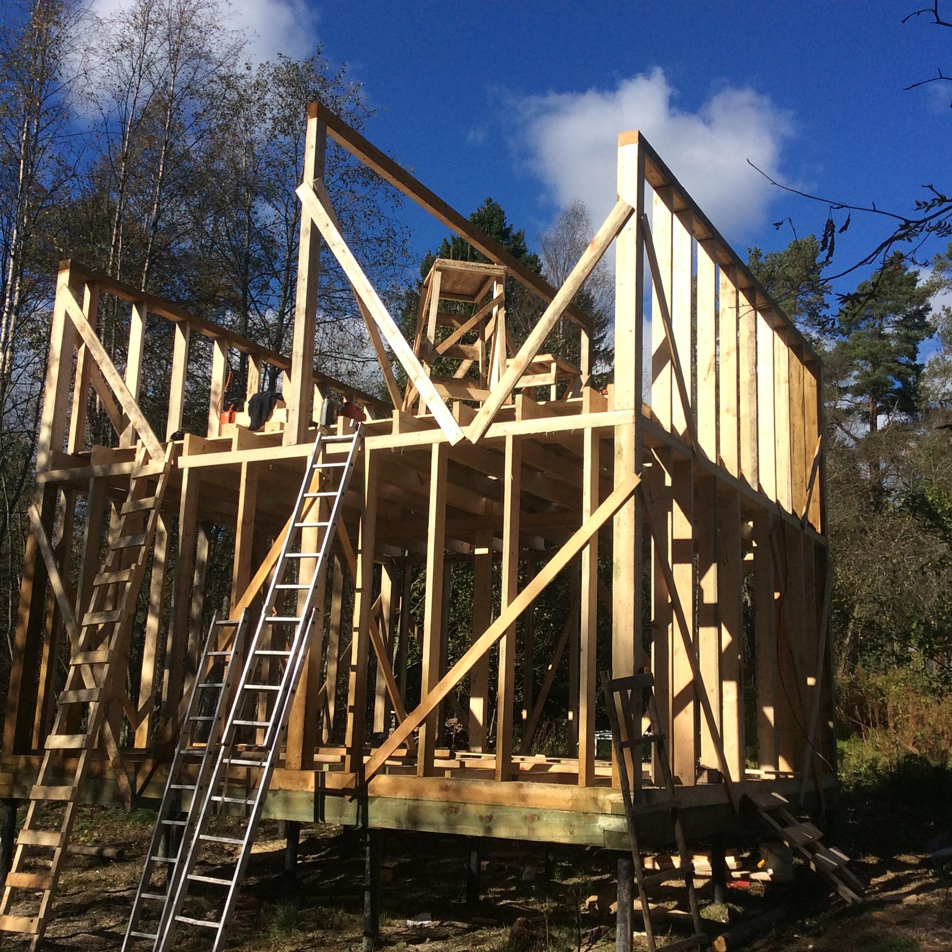 Строительство каркасного дачного дома